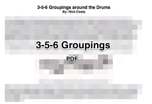 3-5-6 Groupings Around The Drumset