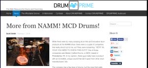 Drumprime More from NAMM article on nick costa's MCD custom kit