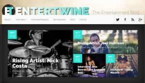 Nick Costa featured on Entertwine's Rising Artist column.