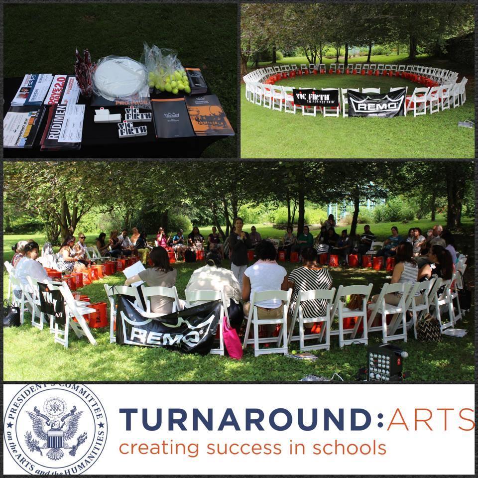 Nick Costa Turnaround Arts Bucket Drum Workshop Summer Retreat 2014