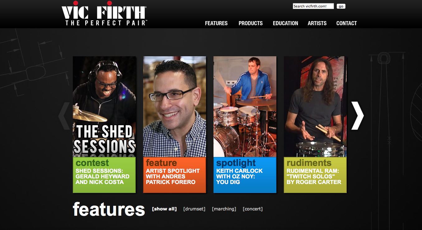 Vic Firth The Shed Sessions Gerald Heyward and Nick Costa