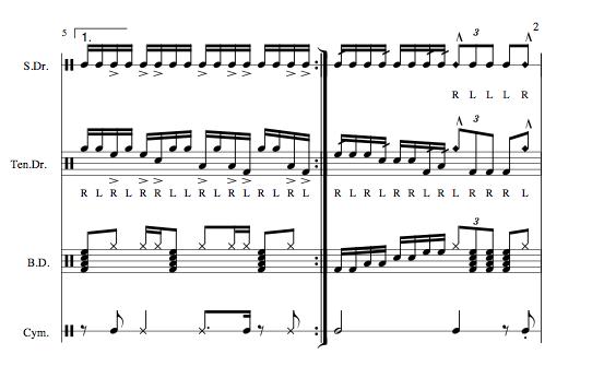 Drumline Cadences