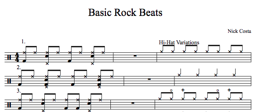 Basic Rock Beats