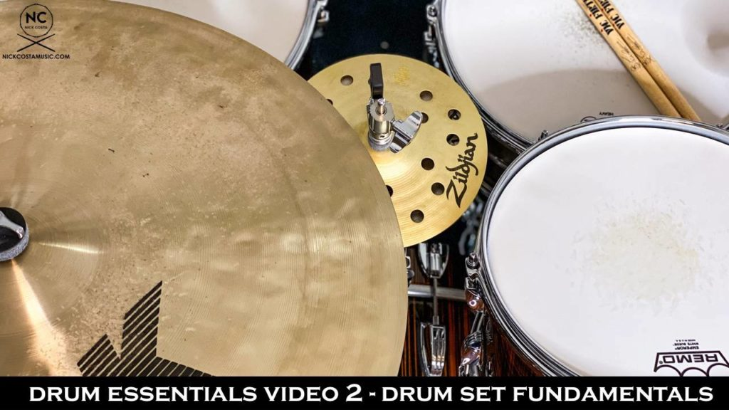 video 2 of the drum essentials from NickCostaMusic.com covering drum set fundamentals nick costa nick costa music nick costa drums drum education drum lesson