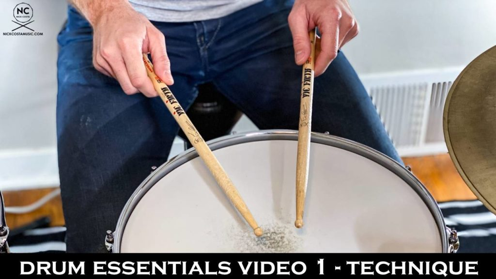 Drum Essentials video 1 - Technique | NickCostaMusic.com free drum lesson